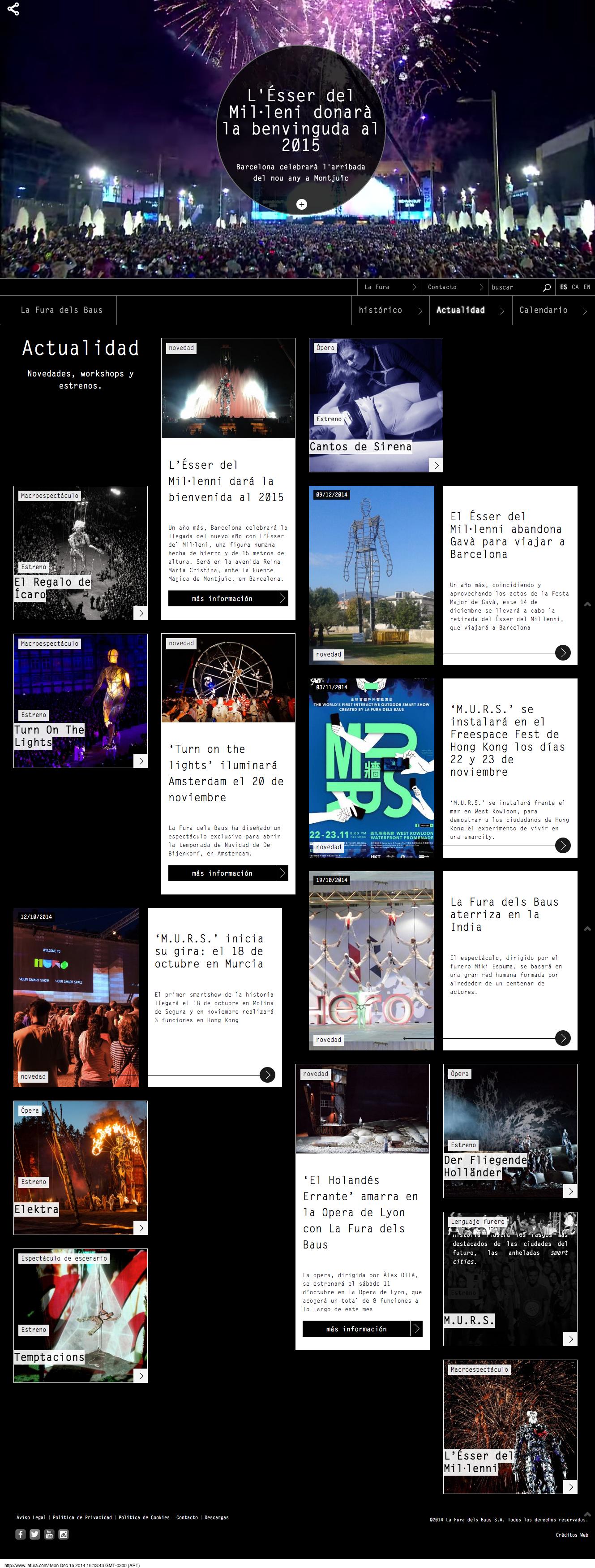 La Fura dels Baus website
