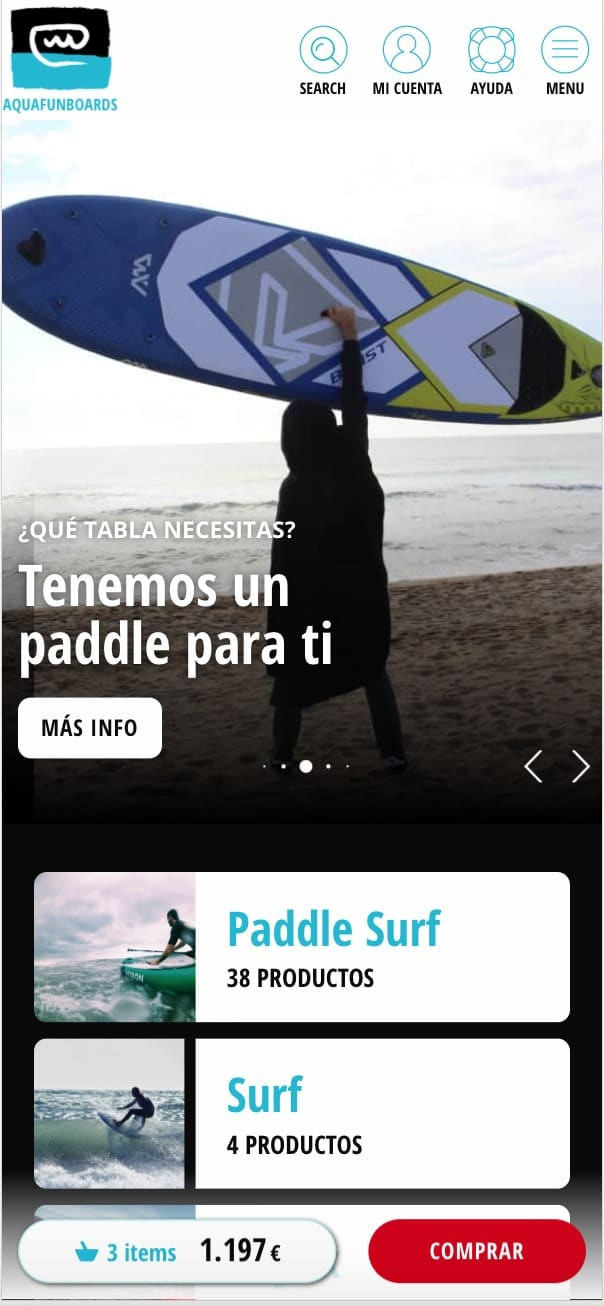 Aquafun Boards tienda online mobile home