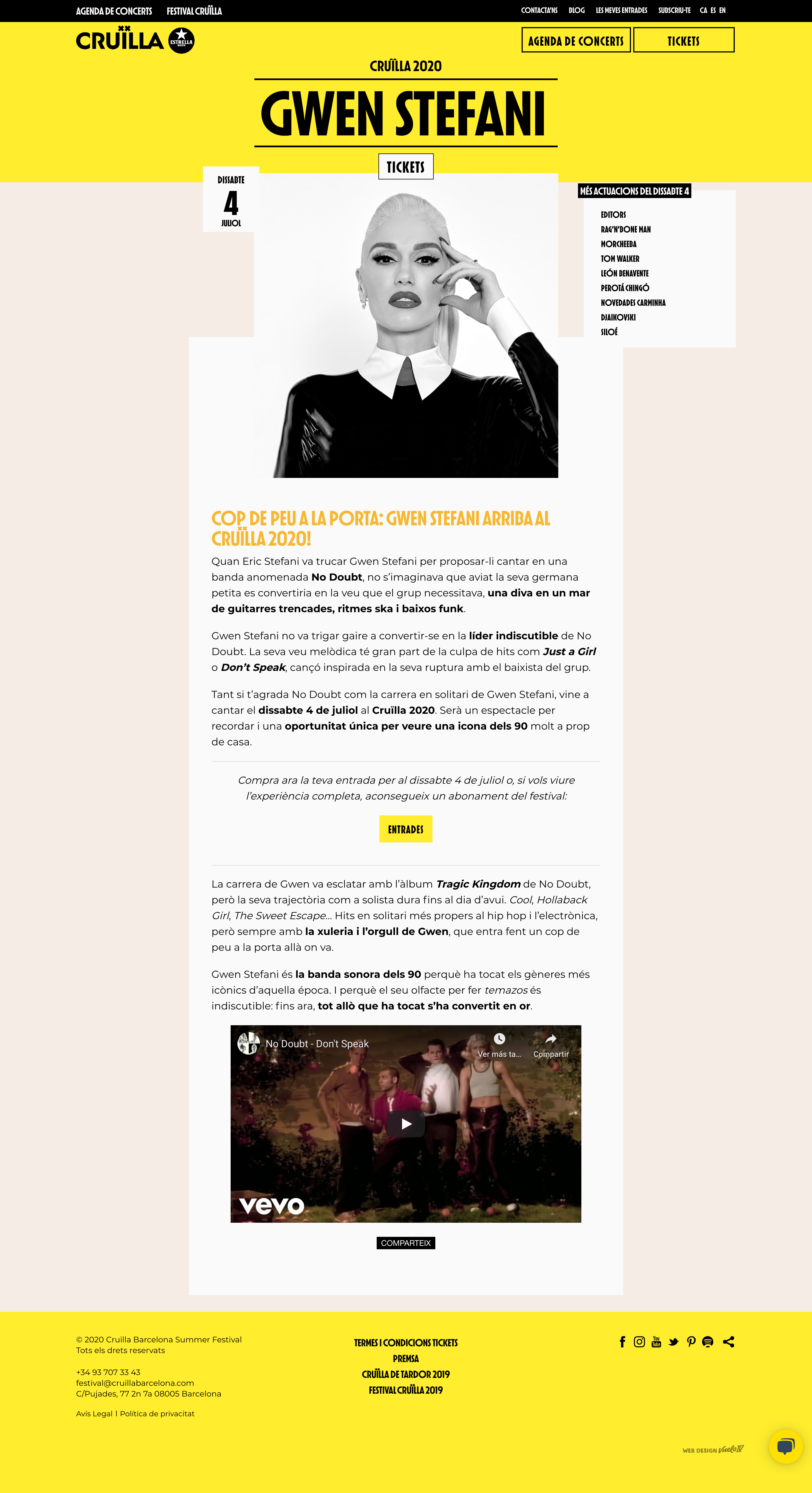 Cruilla barcelona summer festival website