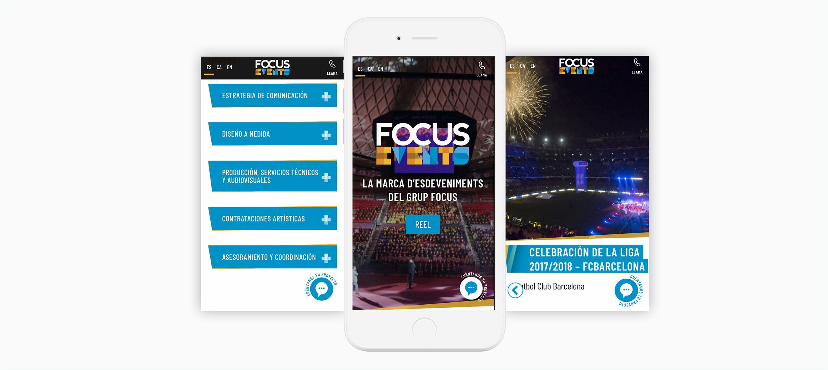 Focus Events Mobile Website