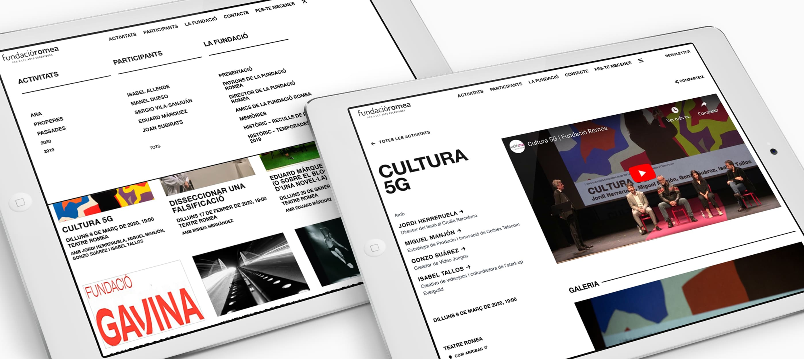 fundacio romea website tablet