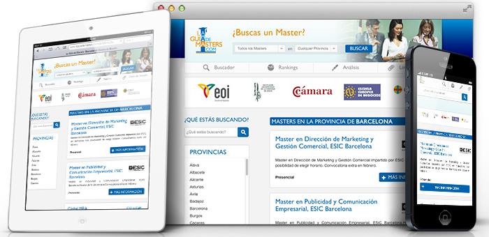 diseño web buscador de master