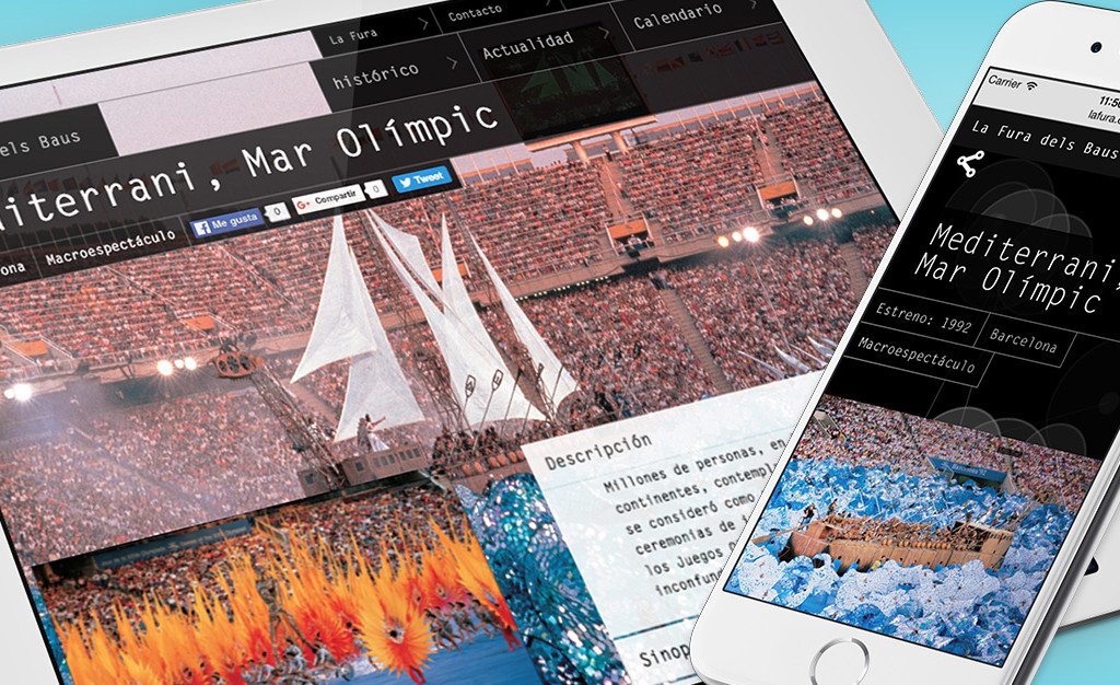 Diseño página web La fura dels Baus