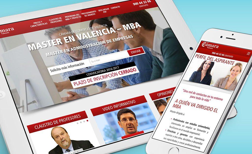 pagina web master camara de comercio