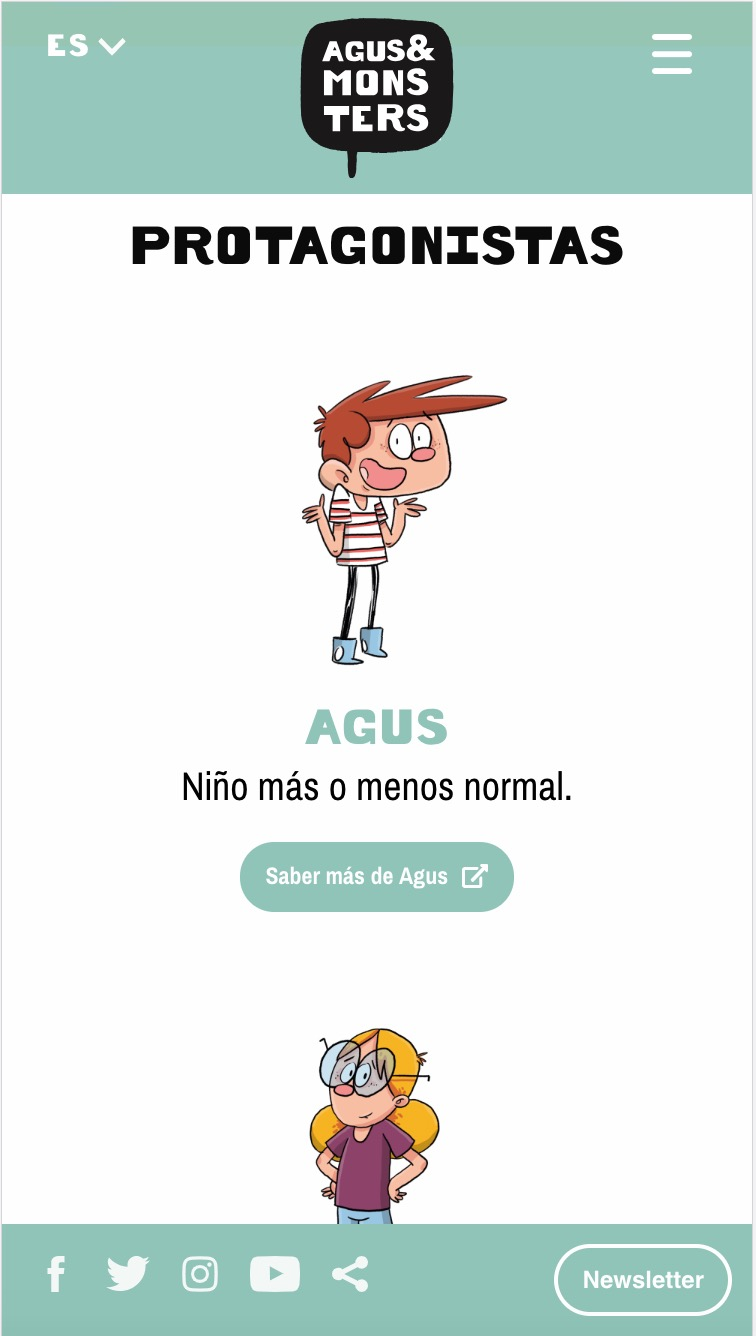 agus and monsters pagina web