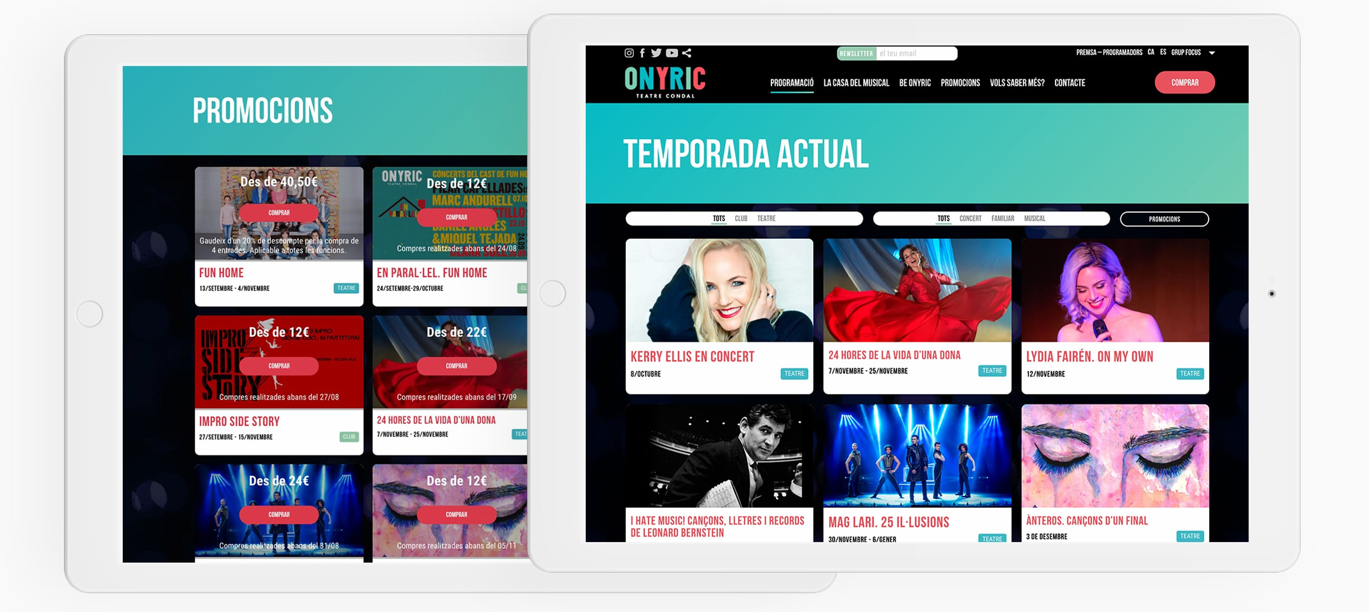onyric teatre condal barcelona