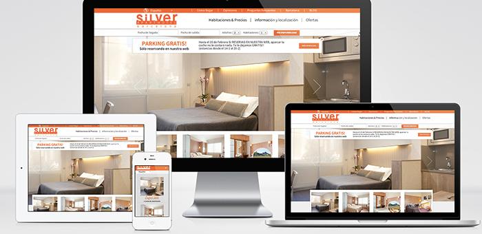 diseño web responsive aparthotel silver barcelona