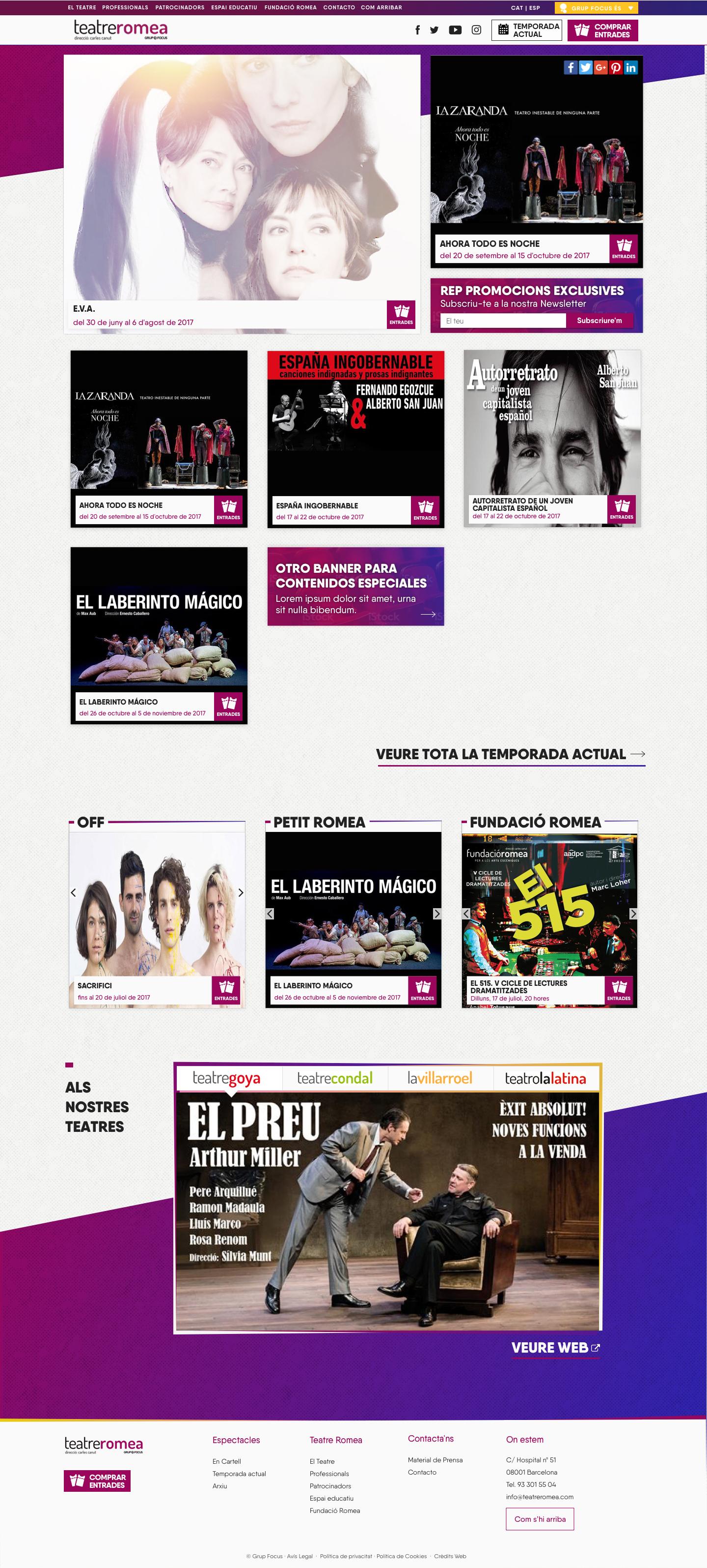 diseño web teatre romea barcelona