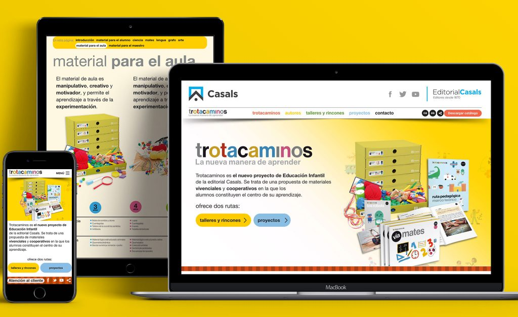 pagina web para trotacaminos editorial casals