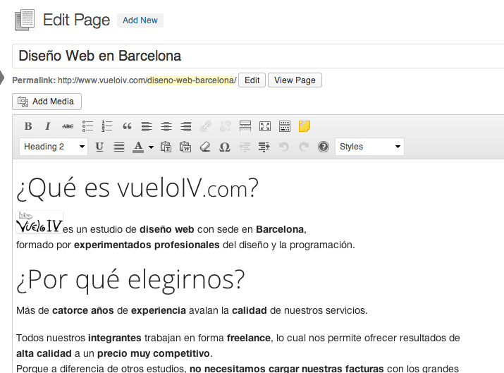 programacion wordpress barcelona